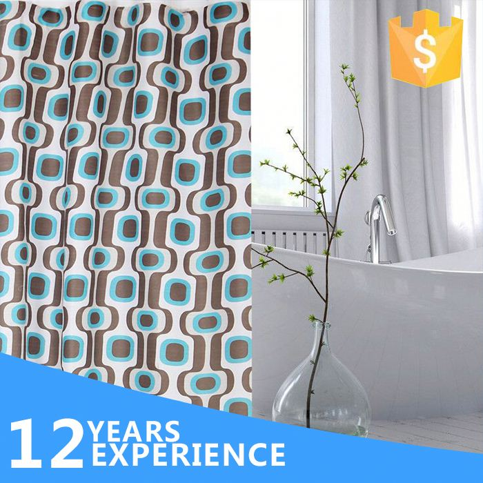 custom printed shower curtains/home goods shower curtains