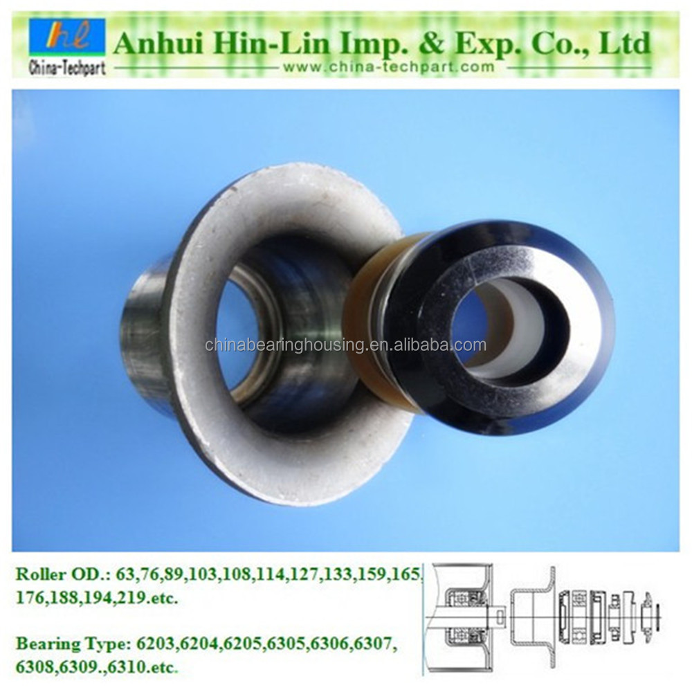 conveyor roller parts bearing housing/seat/stand/base/block with seal system