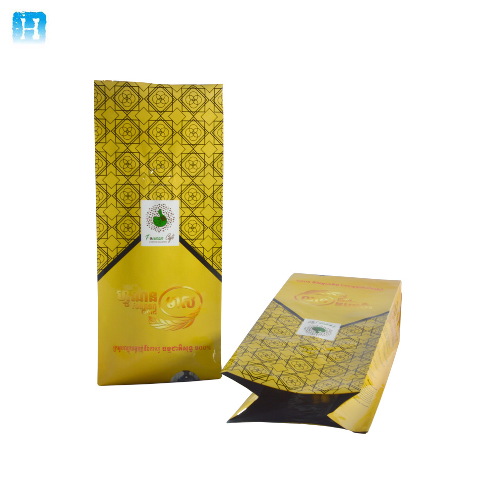 China suppliers Custom printed food packaging Aluminum foil coffee bag