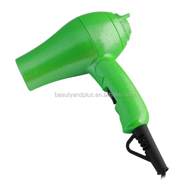 Green gold mini travel hair dryer