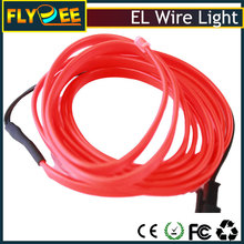 high bright cuttable multi color 0.9mm 1.4mm 2.3mm 3.2mm 4mm 5mm welted electroluminescent el wire neon rope light