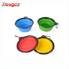 Custom Logo eco-friendly silicone folding collapsible travel pet bowl with hook portable pet dog feeder dog dishes