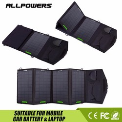 Outdoors emergency Solar Battery Charger 18V 14W for Laptop Car Jumper Mobile Phone.