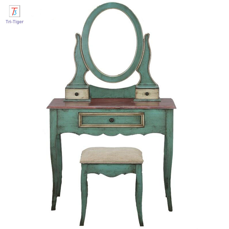 Mediterranean <strong>Design</strong> <strong>Antique</strong> Girls Dressing Table
