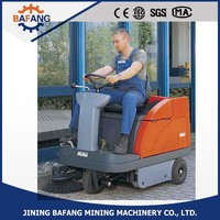 Floor cleaning machine advance sweeper scrubber