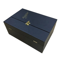factory direct sale best quality gold stamping wine beverage champagne gift boxes with lock