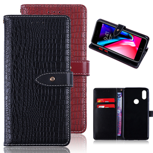 Luxury Mobile Phone Accessories PU Leather Phone Back Cover Case for Xiaomi Mi 8