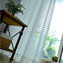 voile white stripe jacquard fabric tulle drape sheer curtain