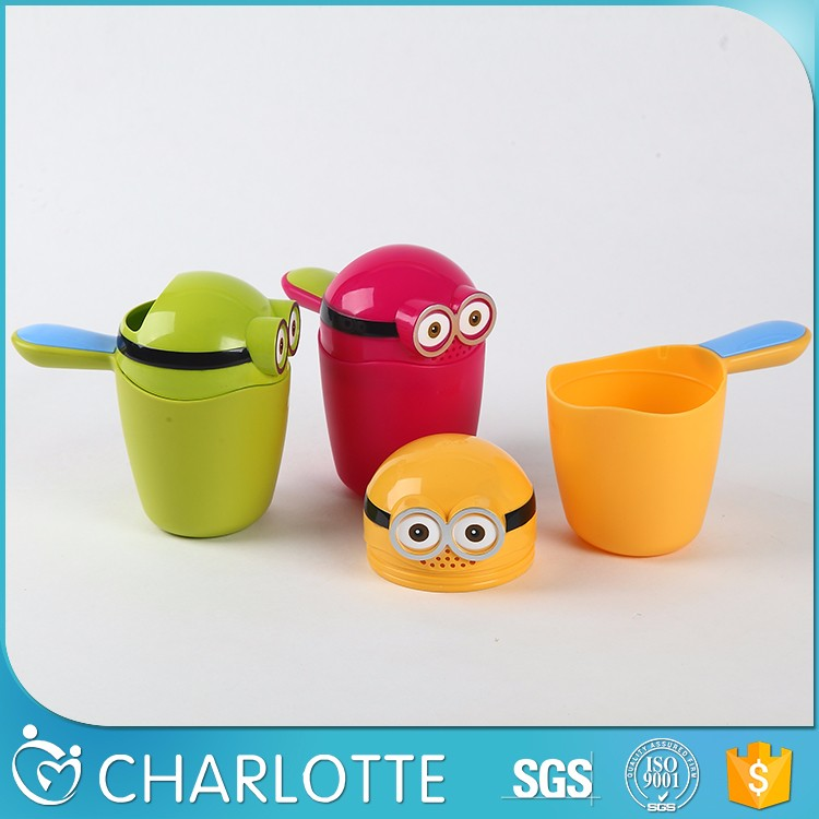 Hot Plastic Scoop Safety Baby Bathroom Shampoo Rinse Cup