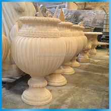 Sandstone large outdoor urns