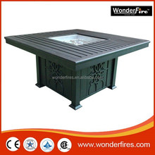 Outdoor fire pit table/Aluminum/patio heater/SUS burner ststem/ball valve/regulator/fireglass/NG conversion kit/