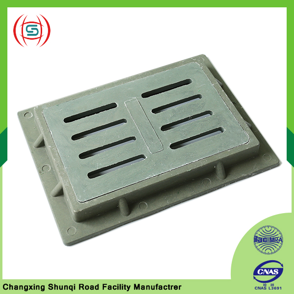 Car parking lot nodular cast iron drainage geogrid trench cover