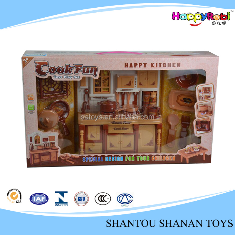 Hot sales kids plastic play food kitchen set toy