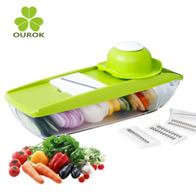 Multifunctional Hand Grater with 5 Blades