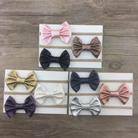 Professional girl leather hairband baby hair bows multicolor bow headband