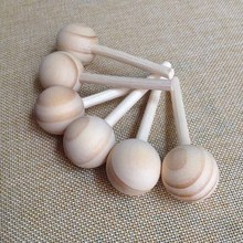 27mm Natural Pine Wooden Reed Diffuser Ball with Rattan Stick for House Air Freshener
