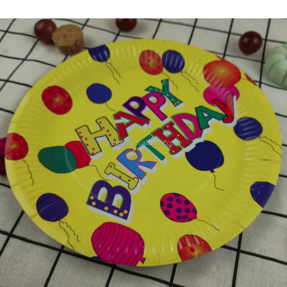 paper plate for birthday party