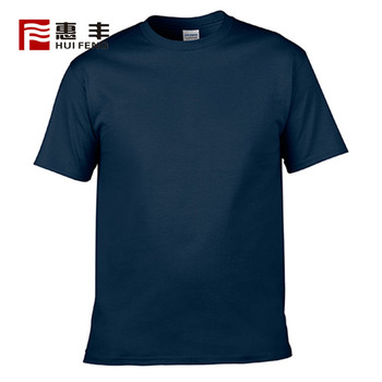 Wholesale New Trend Plain Black Blank Short Sleeve Casual T-Shirts