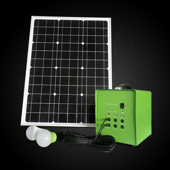 50W 24AH complete set off grid solar power system home