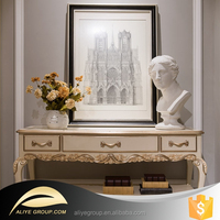 AH12-console table with marble top/console table wood/curve console tables