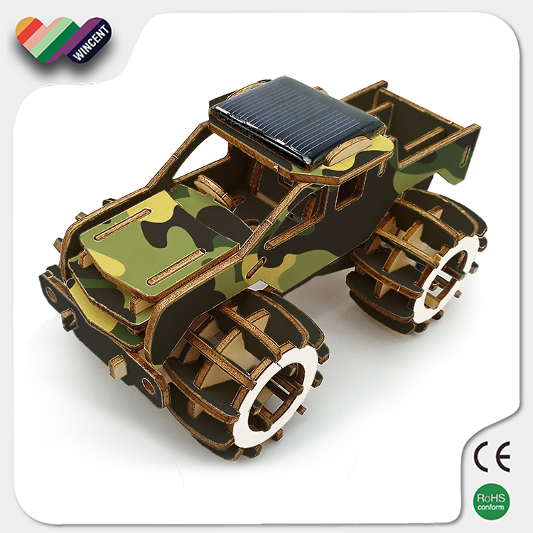 Wooden Solar Energy Mini Toy Car for Kids