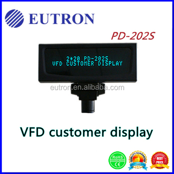 VFD customer pole display, indoor pos customer feedback
