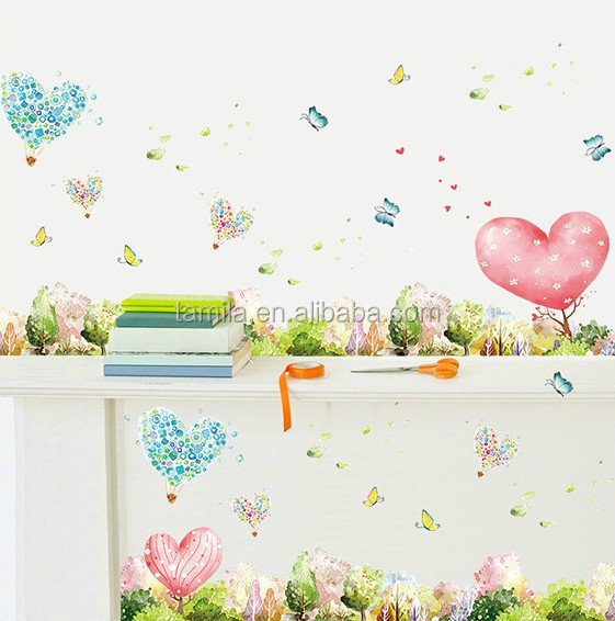 DIY PVC Romantic Love Heart Tree Wall Sticker Decal For Kids Children Baby Nursery Room Decor
