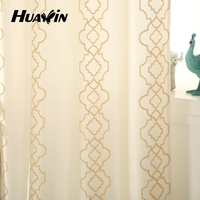 100 polyester faux silk embroidery curtains for europe market cheap curtain fabrics
