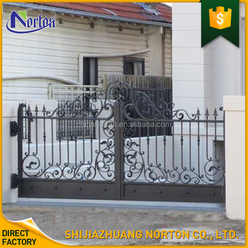 Hotdip galvanizing customized metal craft residential modern main gate designs NT-WI029D