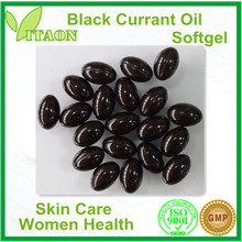 600 mg ISO,GMP Certificate and OEM Private Label Black Currant Seed Oil Softgel for Women health