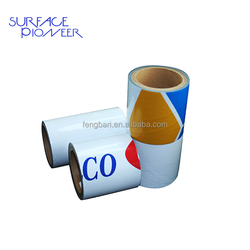 PE surface protective black and white plastic film