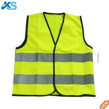 Wholesale Price Hot Selling Kids Sleeveless v Neck Saftey Reflective Vest Yellow Tank Top Singlet Flashing Material Led