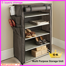 High quality zipper lock wall mounted shoe storage