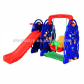 Plastic swing and slide combination for children