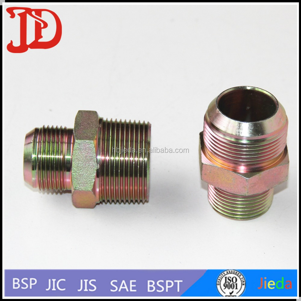 All Dimensions of Carbon Steel Pipe fittings Adapter ,Pipe With Nut And Threads On The Ends Made in China Manufactory