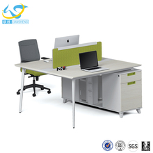 Fashionable Office workstation computer desk two people table