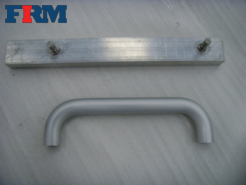 White coated aluminium door handle