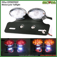 Custom Cat Eye Motorcycle LED Brake Taillight With Turn Signals Light MV20T017