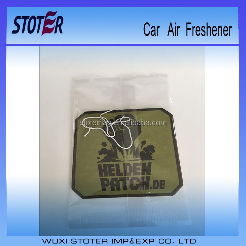 Advertising make hanging paper car air freshener