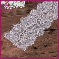 12cm width High quality Nylon spandex Eyelash Zig Zag elastic Lace