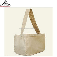 Large Canvas Newspaper Delivery Bags Carrier Natural Fiber Cotton Shoulder Bags