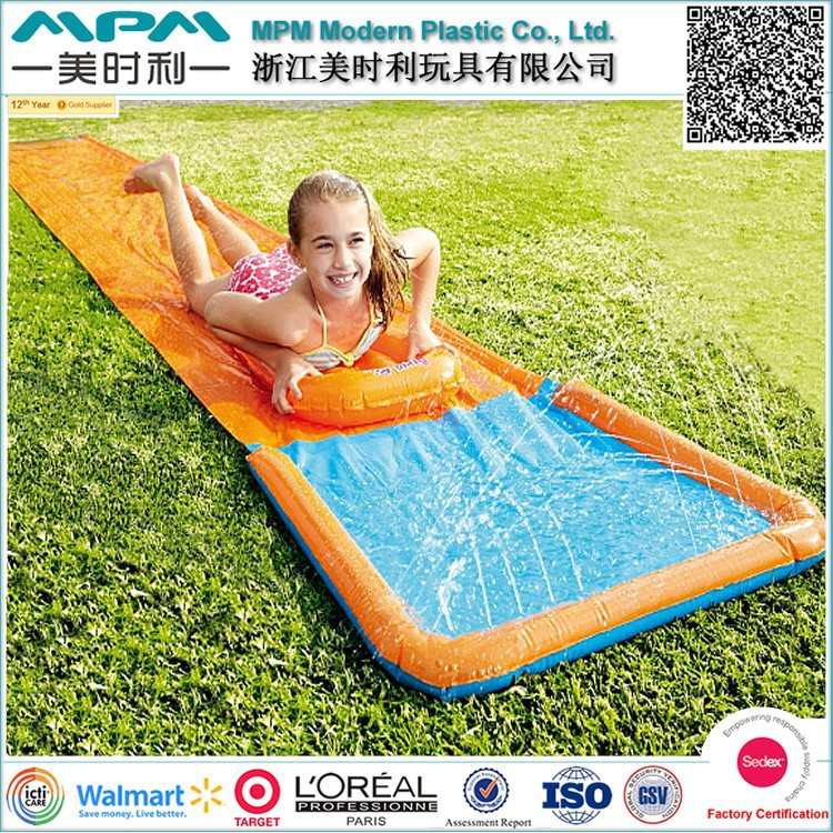 ICTI SEDEX Factory Audit outdoor/garden game double inflatable water slides for kids