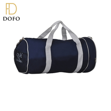 Wholesale custom logo cheap dark blue canvas rolling duffle bags