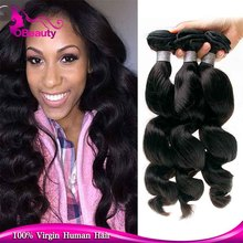 Golden factory provide 8-32 inch appealing peruvian loose deep wave