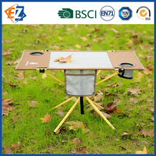 Outdoor Small Folding Steel Square Table for Camping