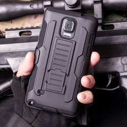 Hybrid Armor Kickstand Military Styls Hard Case for Samsung Galaxy Note 4 N9100 Cover Belt Clip Mobile Phone Bags Shell