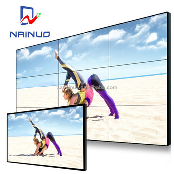 frame splicing narrow bezel lcd video wall electric tv removable tv wall mount