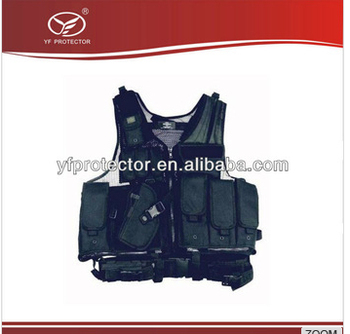 airsoft Deluxe Multifunctional Tactical Vest Swat Paintball Airsoft Police Black Left Handed Holster
