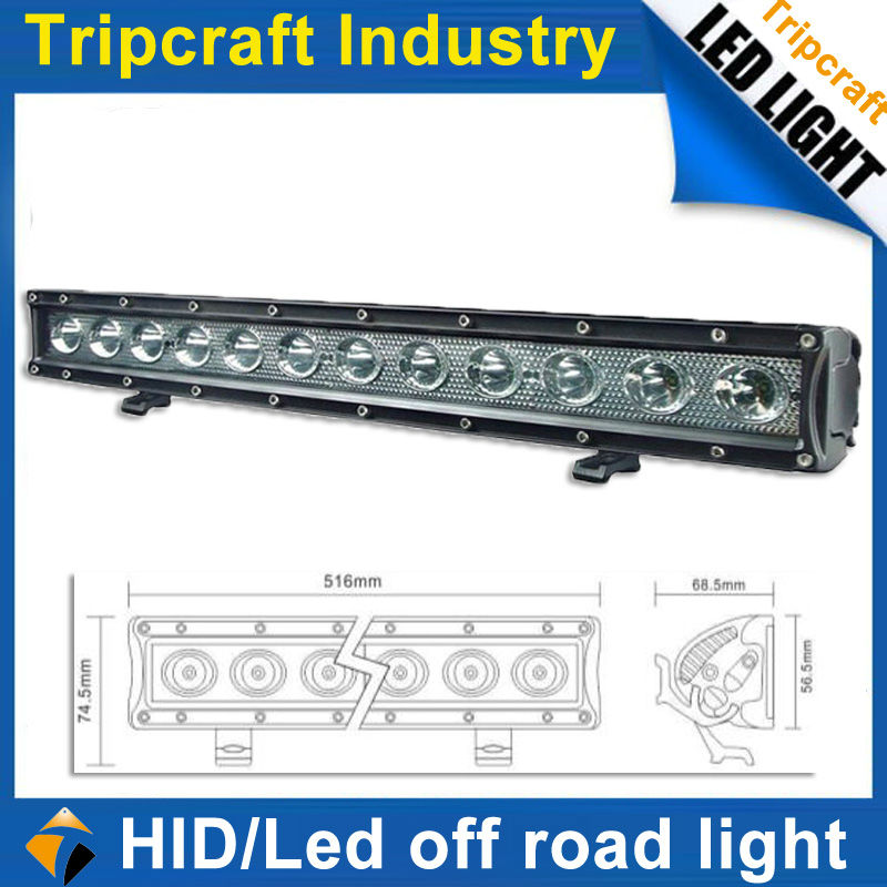 HOT!!! Waterproof 60W Offroad LED Light 10-30V DC 4WD ATVs SUT Off road LED Motorcycles for Tractor Parts 20'' Offroad LED Light