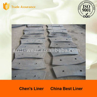 High Cr Cast Iron Liners for Cement Mill